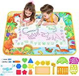ZZLWAN Toddler Toys for 2 3 4 Year Old Girls Boys Gifts,Aqua Magic Doodle Mat,Most Popular Learning Educational Toy Water Drawing Mat,Top Birthday Present for Kids Age 5 6 7 8