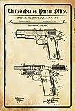 Stevenca Metal Tin Sign Us Gun Pistol Browning 1911 Vintage Look Custom Vintage Retro Aluminum Sign for Wall Decor 8x12 Inch