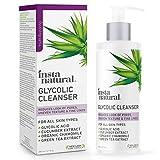 Glycolic Acid Facial Cleanser - Wrinkle, Fine Line, Age Spot & Hyperpigmentation Exfoliating Women & Men's Face Wash - Clear Skin & Pores - Glycolic, Organic Extract Blend & Arginine - InstaNatural - 6.7 oz