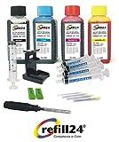 Kit de recarga para cartuchos de tinta Canon 510,512,511,513 negro y color, incluye clip y accesorios + 400 ML Tinta