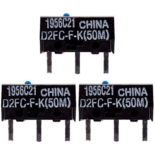 IT-Services Irro 3X D2FC-F-K(50M) Mikroschalter Reparatur-Satz/Repair-Kit passend für Mäuse von Logitech, Razer, Roccat, SteelSeries und Weitere