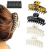 Haarklammer 14 Stück, Haarspangen Damen Hair Clips Haarschmuck, Kunststoff Klaue Clips 4 Stück...