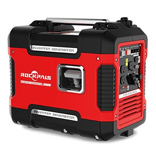 Rockpals 2000-Watt Super Quiet Inverter Generator,...