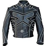 Classyak Giacca MotoCycle in vera pelle da uomo con design XMen