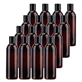 Best Liquid Body Soaps - Bekith 16 Pack 8 ounce Amber Empty Plastic Review