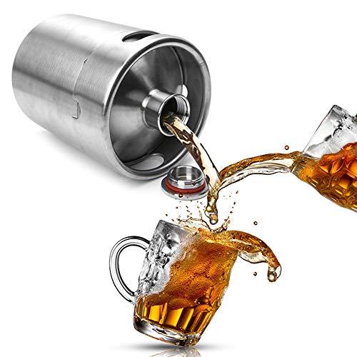 Edelstahl Weinfass, 2 Liter Bier Topf, Schraubverschluss Für Inländische Bierbrauen Flasche, Geeignet Für Zu Einer Party Oder EIN Picknick Zu Hause Gebrautes Bier Zu Bringen