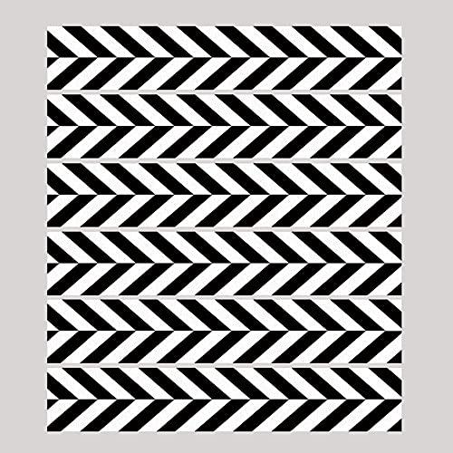 Pegatinas sencillas en blanco y negro de la escalera de estilo simple a rayas pegatinas impermeable extraíble casa pared etiqueta