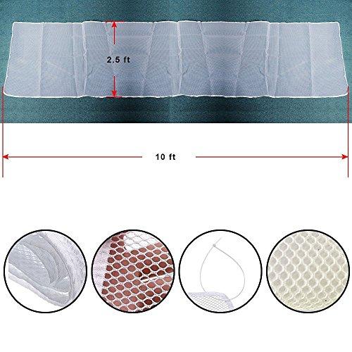 CestMal Red de Seguridad Malla Red de Seguridad para Balcones Resistente /&Impermeable Red de Seguridad Ni/ños Ajustable a Balc/ón//Escaleras//Patios 74 cm x 300 cm-Blanco