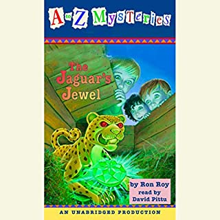 A to Z Mysteries: The Jaguar's Jewel audiobook cover art