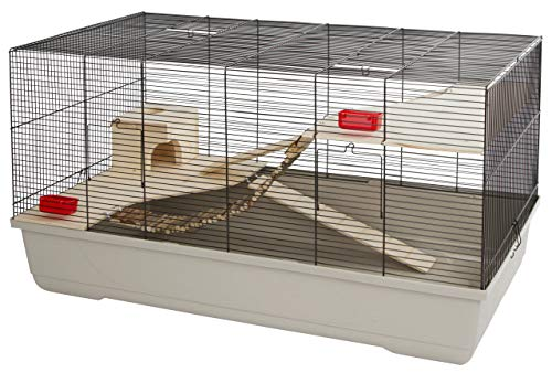 Jaula para animales pequeños Gabbia Hamster 102, beige, 100 x 53 x 55 cm