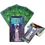 Principiante Libro Universale celtica Mazzo di Tarocchi di 78 Carte, Universale celtica Mazzo di Tarocchi, Carte Oracle, predicendo Destiny e guarigione precedenti ferite, English Version