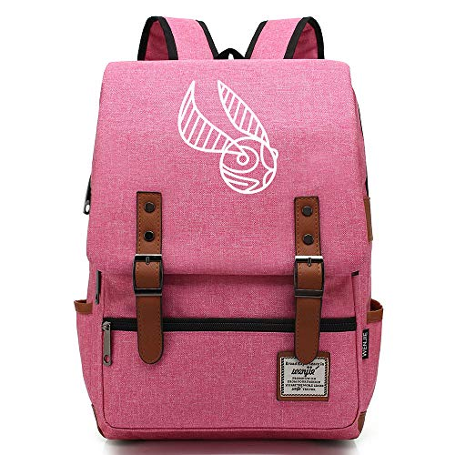 NYLY Sac à Dos pour Enfants Junior High School Student Bag Harry Potter Lightweight Waterproof Oxford Cloth Sac à Dos Unisex Grande Rose B