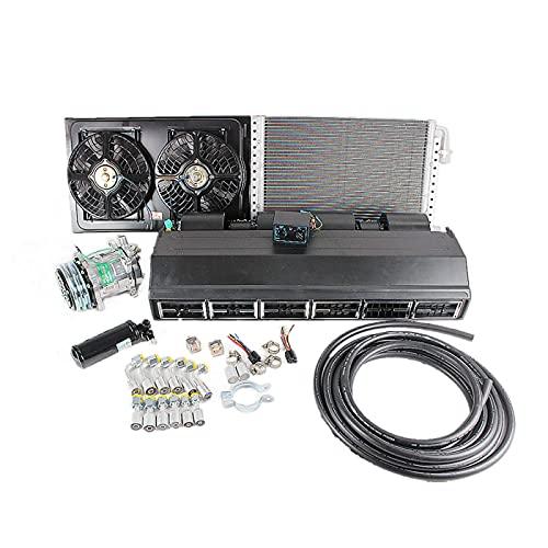 Kit de instalación de evaporador de aire acondicionado de 12 V, 24 V, A/C, adecuado para camiones pesados, remolques de automóviles, piezas de vehículos recreativos RV (12V)