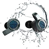 Jabees Firefly.2 Touch TWS Bluetooth Earbuds Waterproof & Dustproof IP67 10-Hr Playtime in Midnight Green, Transparency Mode Water Sports Earphone Dual-Mic Headset Qi Wireless Charging Case (Charcoal)