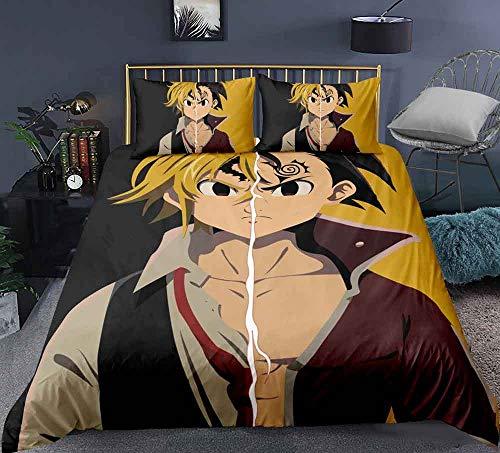 Animado cubierta del edredón for los siete pecados capitales: el pecado de dragón de la ira, impresas en 3D funda de almohada, edredón de la cubierta, cierre de cremallera, Ventiladores ropa de cama f