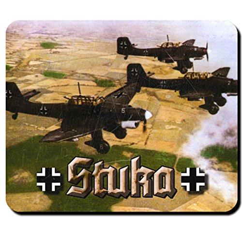 Stuka Flugzeug Wk Militär Deutsche Luftwaffe Bf Wh- Mauspad Mousepad #6182
