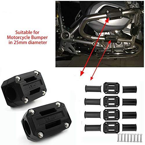 FATExpress Kit de protection pour barre de moto 25 mm - Pour B-M-W F800GS ADV R1200GS 01 02 03 04 05 06 07 2008 2009 2010 2011 2012 2013 2012 2014 2015 2015 016 2. 017.