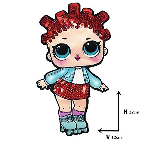 Action & Toy Figures - Cartoon Patches Women Fashion LOL Doll Girls Lovely Fashion Boy Doll Embroidery Patch DIY Garment Decoration Sequins Cloth - by TAllen - 1 PCs