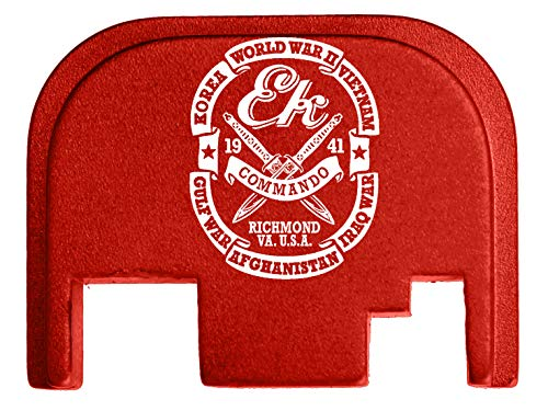 for Glock Back Plate Gen 1-4 17 19 21 22 23 27 30 34 36 41 Red NDZ - Ek Commando Knives