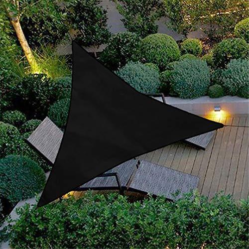 HotYou Sonnensegel Beleuchtung für Garten Oder Terrasse Luftdurchlässig Und Atmungsaktiv,Schwarz,3 * 3 * 3 M