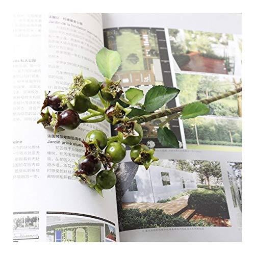Roovtap 1 Stück/künstliche Blume Granatapfel Berry Blumen-Niederlassungs-Hochzeits-Dekoration Dried Flower (Color : Green)