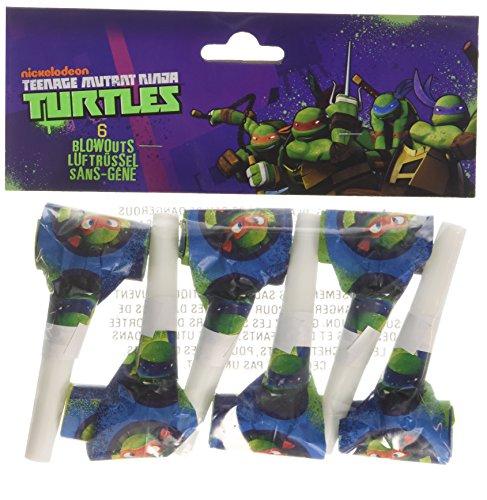 amscan International Partypfeifen, Teenage Mutant Ninja Turtles, 6 Stück