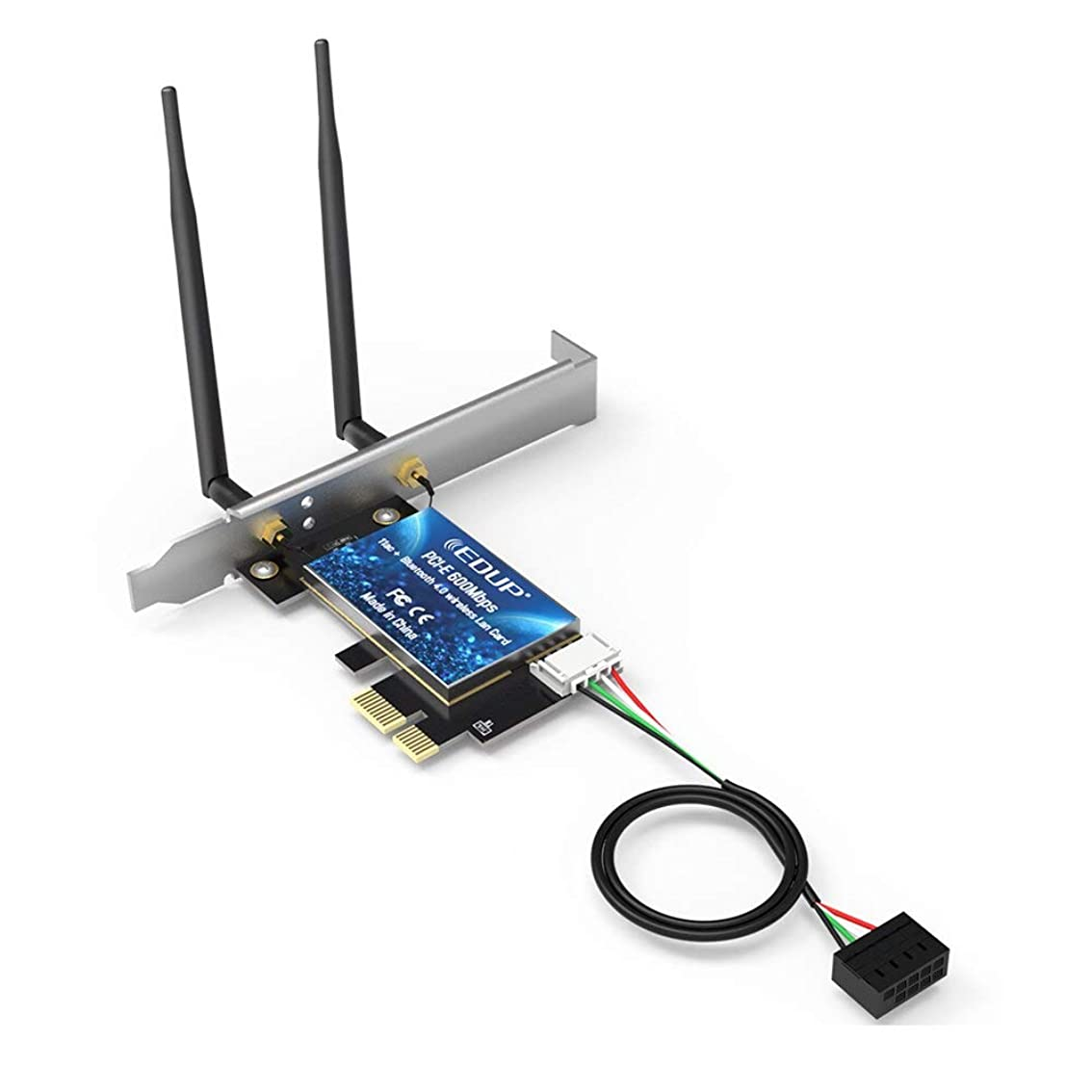 素晴らしい統治可能ゴミ箱2.4GHz/5.8Ghz Dual Band AC600 WiFi Bluetooths PCI Express Adapter With 2*5DBi Antenna wifi laptop card