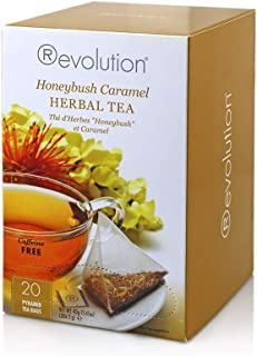 Revolution Tea Herbal Tea, Honeybush Caramel, 16 Count (Pack of 6)