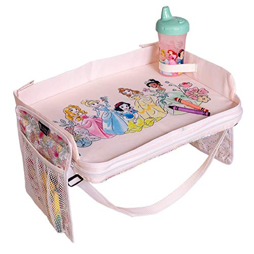 J.L. Childress Disney Baby by 3-in-1 Travel Tray & iPad Tablet Holder, Car Seat Lap Tray for Toddlers & Kids, Princess