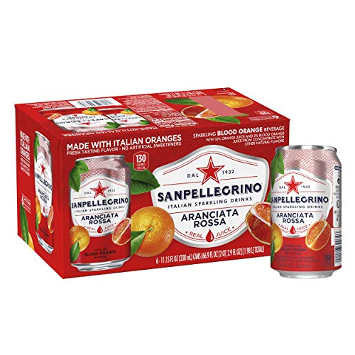 Sanpellegrino Blood Orange Sparkling Fruit Beverage Cans, 11.15 Fl Oz (pack of 6)