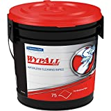 Wypall - KCC91371CT WypAll 91371CT Waterless Hand Wipes, Cloth, 9 x 12, 75 Count (Pack of 6)