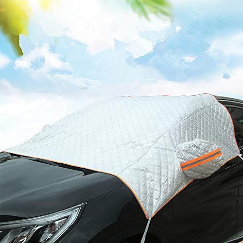 BOENTA Parasole Auto Parabrezza Anteriore Parasole Parabrezza Auto Schermi solari per Auto Copertura antigelo Parabrezza per Auto Silver Thick,Free Size