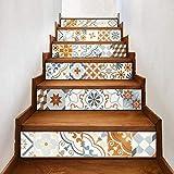 Pegatinas para escaleras 6 unids/lote BoConcept Azulejos de cerámica Pegatinas para escaleras Ladrillo colorido decoración de la calcomanía impermeable nuevo arte Home Corredor Mural