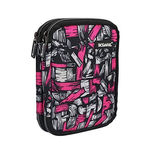 Häkelnadeletui, Organizer-Tasche mit Reißverschlussfächern für 1 mm bis 8 mm, verschiedene Häkelnadeln und Strickzubehör, magische Farben (kein Zubehör enthalten)