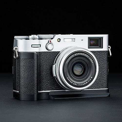 JJC Handgriff Kameragriff für Fujifilm Fuji X100V X100F   Verbessertes Handling   Arca Swiss schnellwechselplatte kompatibel mit Stativ   Akku direkt wechseln   Metall L-Platte
