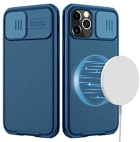 Read more about the article CloudValley Designed for iPhone 12 Pro Max Magnetic Case, 6.7 inch Camera Protection Case with Slide Lens Cover, Built-in Magnet Circle [Support Magsafe Charger] Slim Protective Case (Blue)