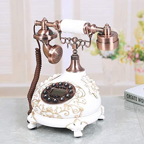 LXDDP Retro Festnetztelefon, Garderobe Massivholzboden Einfach Kleiderbügel Abnehmbare Schlafzimmer Wohnzimmer Holz Kleiderständer Lagerregal (Farbe: Weiß, Größe: 80 cm)