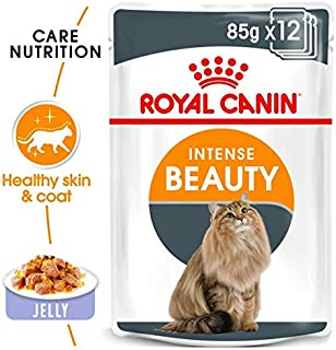 ROYAL CANIN FELINE CARE NUTRITION INTENSE BEAUTY JELLY CAT WET FOOD -12 POUCHES