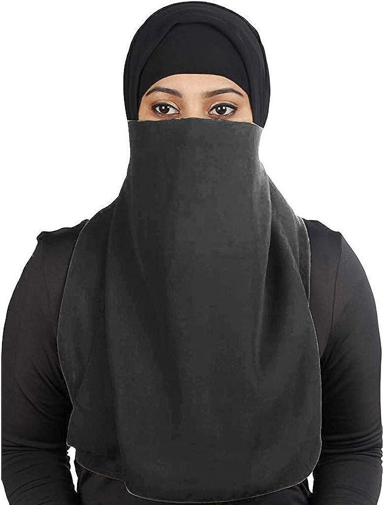 Women Balaclavas Muslim Beanie Wrap Cap Scarf Shawl Windproof Full Face Mask Longer Breathable Neck Cover