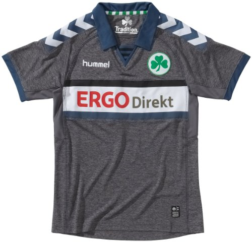 hummel Trikot Furth Short Sleeve Away Jersey, Dark Grey Melange, M, 03-979-2007