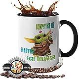 Tasse mit Spruch - Geschenk - [Lebenslange Farbgarantie] Kaffeetasse -geimpft ich bin - lustige Tasse für Büro