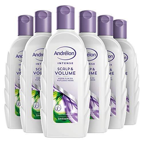 Andrélon Intense Shampoo Scalp & Volume voor fijn en futloos haar - 6 x 300ML - Voordeelverpakking