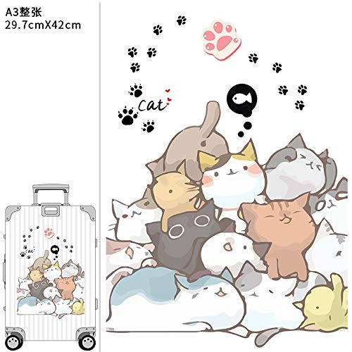 YUHANG Cartoon cute animal ins wind suitcase stickers suitcase trolley room decoration large stickers waterproof