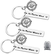Long Distance Friendship Keychain Gifts Distance Gifts Graduation Gifts for Friends Sister No Matter Where No Matter What No Matter When Best Friends Keychain Set of 3