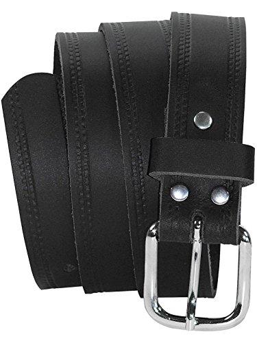 Harrys-Collection Ledergürtel 3 cm breit schwarz! Überlänge bis 180 cm, Schwarz, 105