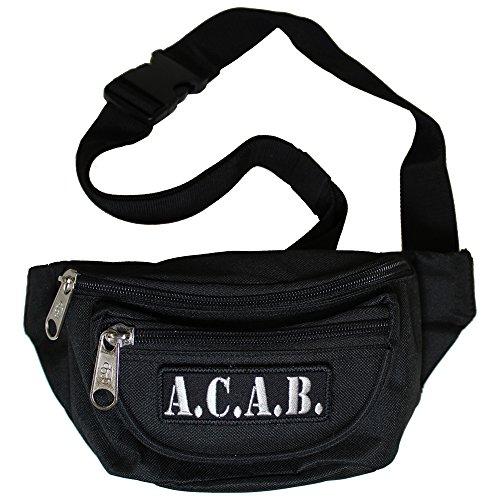 Bauchtasche A.C.A.B. Gürteltasche mit DREI Fächern und abnehmbaren Patch in schwarz