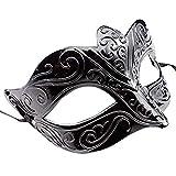 thematys Máscara veneciana negro / blanco para mujer - Perfecto para carnaval, carnaval y baile de disfraces - Disfraz adulto - Unisex Talla única #4