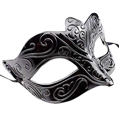 Máscara veneciana negro / blanco para mujer - Perfecto para carnaval, carnaval y baile de disfraces - Disfraz adulto - Unisex Talla única #4