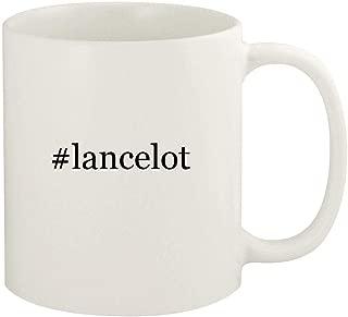 #lancelot - 11oz Hashtag Ceramic White Coffee Mug Cup, White