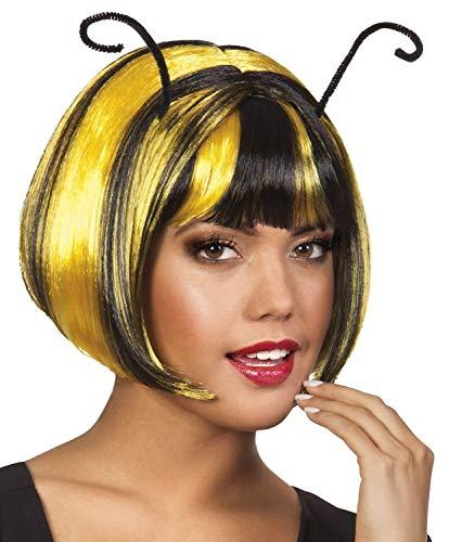 Boland 85795 - Perücke Honigbiene, gelb/schwarz, One Size, Bobfrisur, Biene-Maja-Kostüm